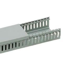 Canal cablu perforat pentru tablouri electrice, 25X80MM 2M/BUC Canalux gri