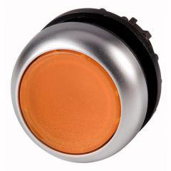 Buton revenire iluminabil portocaliu M22-DL-A, serie M22, Eaton