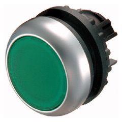 Buton retinere iluminabil verde M22-DRL-G, serie M22, Eaton
