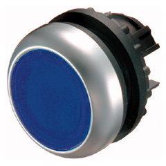 Buton retinere iluminabil albastru M22-DRL-B, serie M22, Eaton