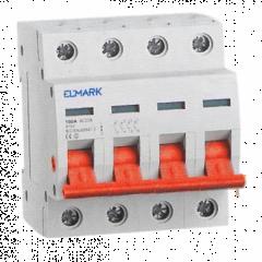 Separator modular de sarcina cu montaj pe sina DIN, 4P/125A, Elmark