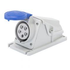 Priza industriala 2P+E, 32A, IP44, 6H, 230VAC, montaj aplicat, conexiune cu surub, Gewiss