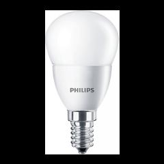 Bec LED bulb E14, 5.5W eq. 40W, lumina calda, P45, Philips