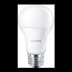 Bec LED bulb E27, 10W eq. 75W, lumina rece, A60, Philips