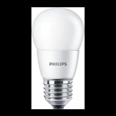 Bec LED bulb E27, 7W eq. 60W, lumina calda, P48, Philips