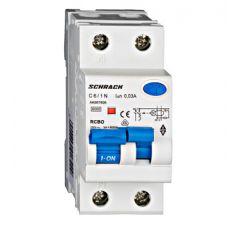 Întreruptor automat+dif. 1P+N, AMPARO 6kA, C 6A, 30mA, tip A