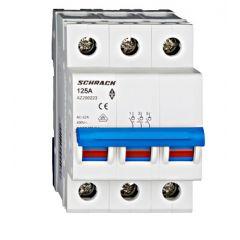 Comutator principal modular 125A, 3-poli, Schrack
