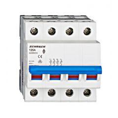 Comutator principal modular 125A, 4-poli, Schrack
