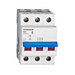 Comutator principal modular 32A, 3-poli, Schrack