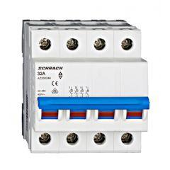 Comutator principal modular 32A, 4-poli, Schrack