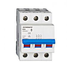 Comutator principal modular 63A, 3-poli, Schrack