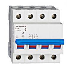 Comutator principal modular 63A, 4-poli, Schrack