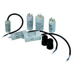 Condensator motor 6uF, 400/450VAC, conexiune cu papuci 6.35mm, Lifasa