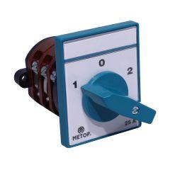 Intrerupator circular, cu came, 3P, 25A, 1-0-2, Metop
