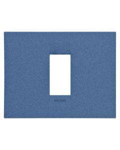 Rama 1M, orizontal, tehnopolimer, Albastru, Gewiss Chorus Geo