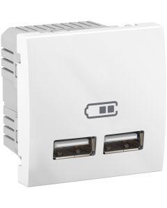 Priza USB, 2.1A, Alb, Schneider Electric Unica