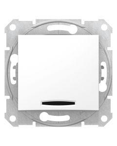 Intrerupator scara cu LED, alb, Schneider Electric, Sedna
